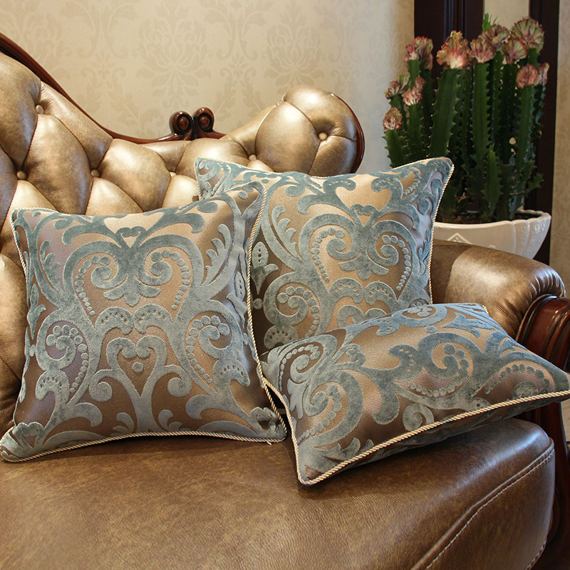 Luxurious Flocking Velvet Pillow Cover Decorative Cushion