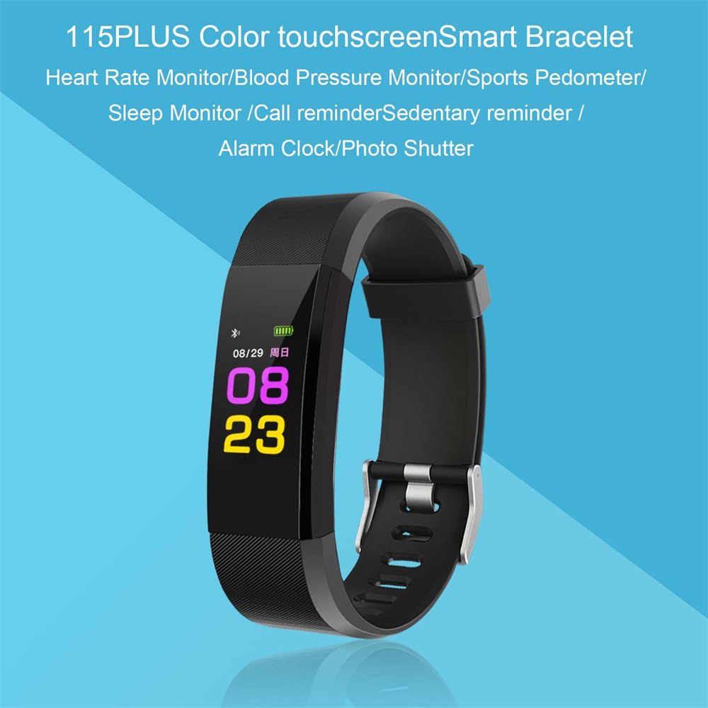 IPS Color Smart Watch Bracelet Heart Rate Monitor Bluetooth 4.0 Android iOS Blood Pressure Reminders App Smartwatch
