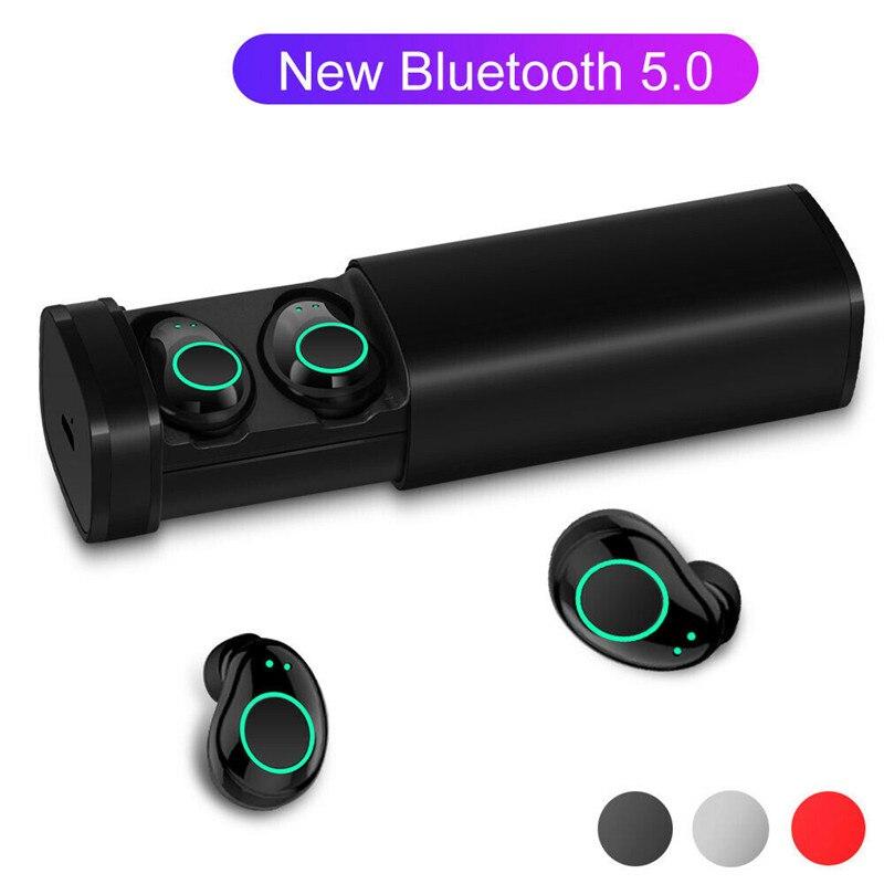 Sports étanche bluetooth 5.0 casque sans fil écouteurs écouteurs Micro stéréo écouteurs