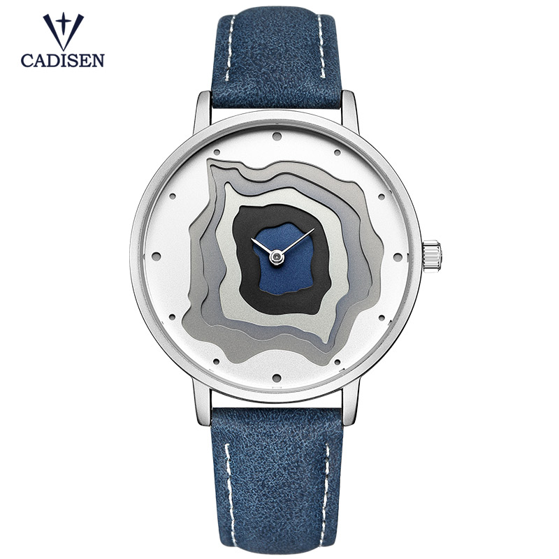 CADISEN Women Watch Top Brand New Leather Quartz Watches Thin Casual Strap Fashion Ladies Gift Wristwatch Reloj Mujer CL2030 shengke top brand fashion ladies watches leather female quartz watch women thin casual strap watch reloj mujer marble dial sk