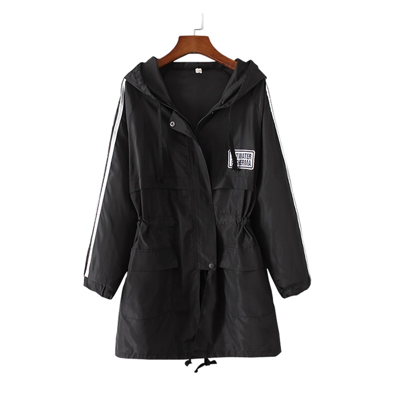 Trench-Coat Autumn Women Fashion Plus-Size Casual Zipper for Casaco Feminino Medium Long