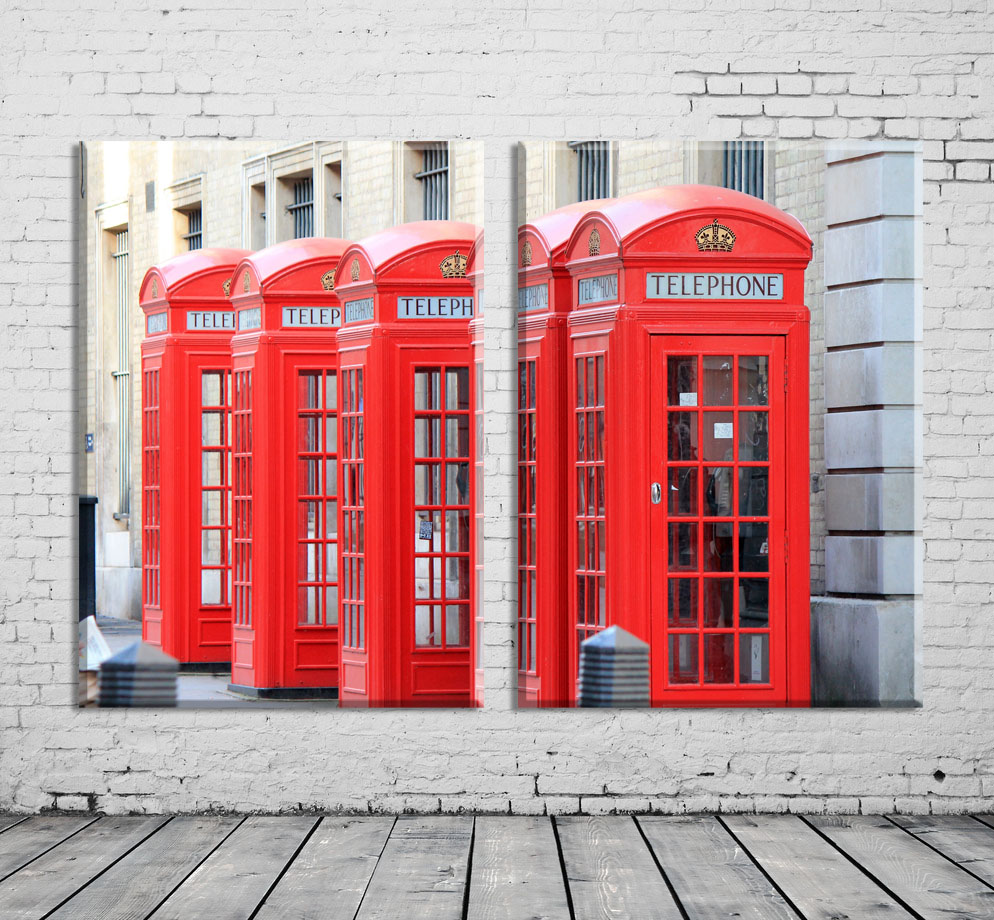 3 Piece Modern Home Decor Wall Painting London Red Phone Booth Art Print On Canvas Pictures For Living Room No Framd In Calligraphy From