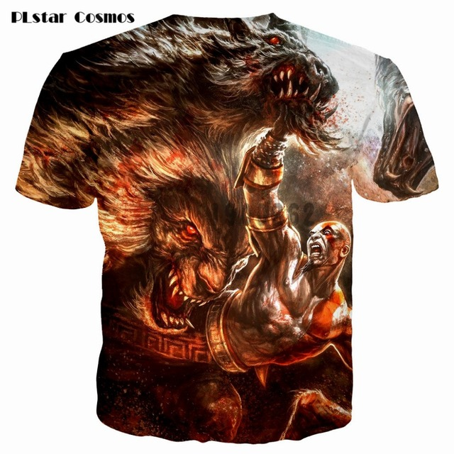Kratos 3D T shirt Men God of War print Short Sleeve fashion tshirt summer t shirts men/boy homme Camisetas plsus size S-5XL 4