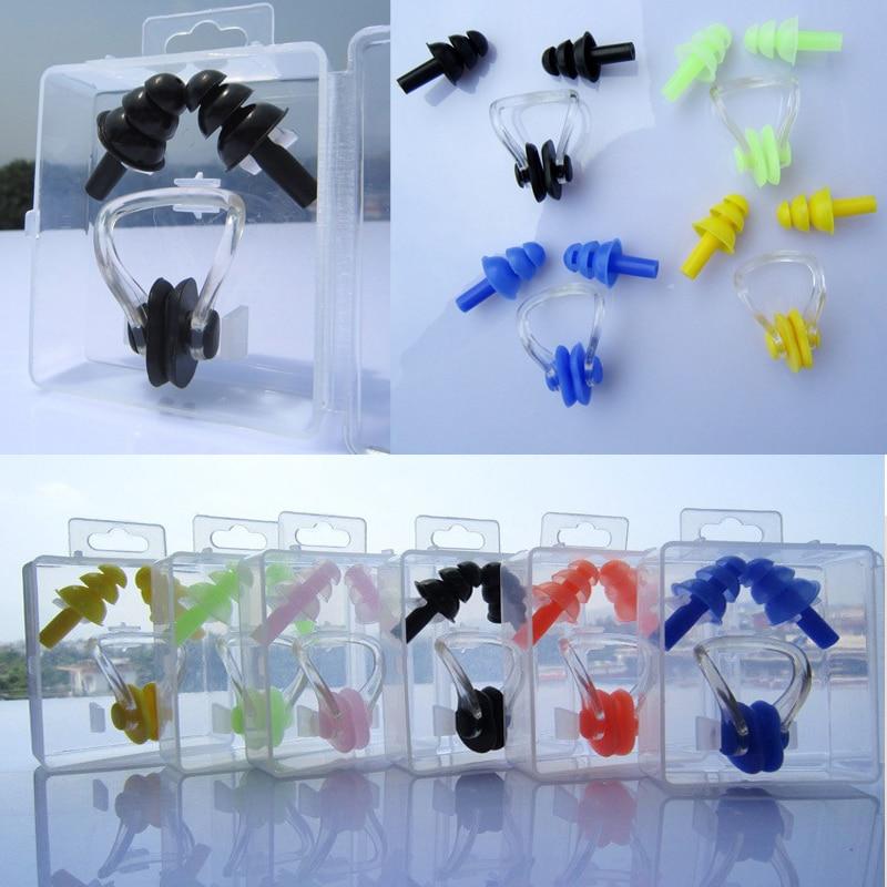 Buy 7 Colors Diving Swimming Earplug Nose Clip Pool Accessories Waterproof