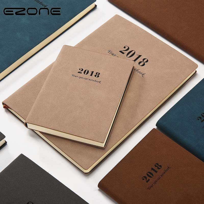 EZONE Vintage Notebook Creative Trends With PU Cover Sample Style 2018 Diary Planner Notepad Travel Journey School Office Supply ezone cute cartoon notebook printed kawaii cat note book pu cover with hasp nopated traveler journey diary school office supply