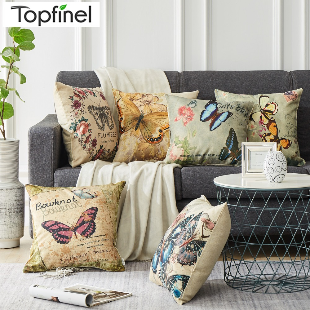 Fuwatacchi Multi-color Numbers Cushion Cover Cute 0-9 Numbers Throw Pillow Cover For Sofa Home Decor Pink Green Paint Pillowcase Home Textile Home & Garden