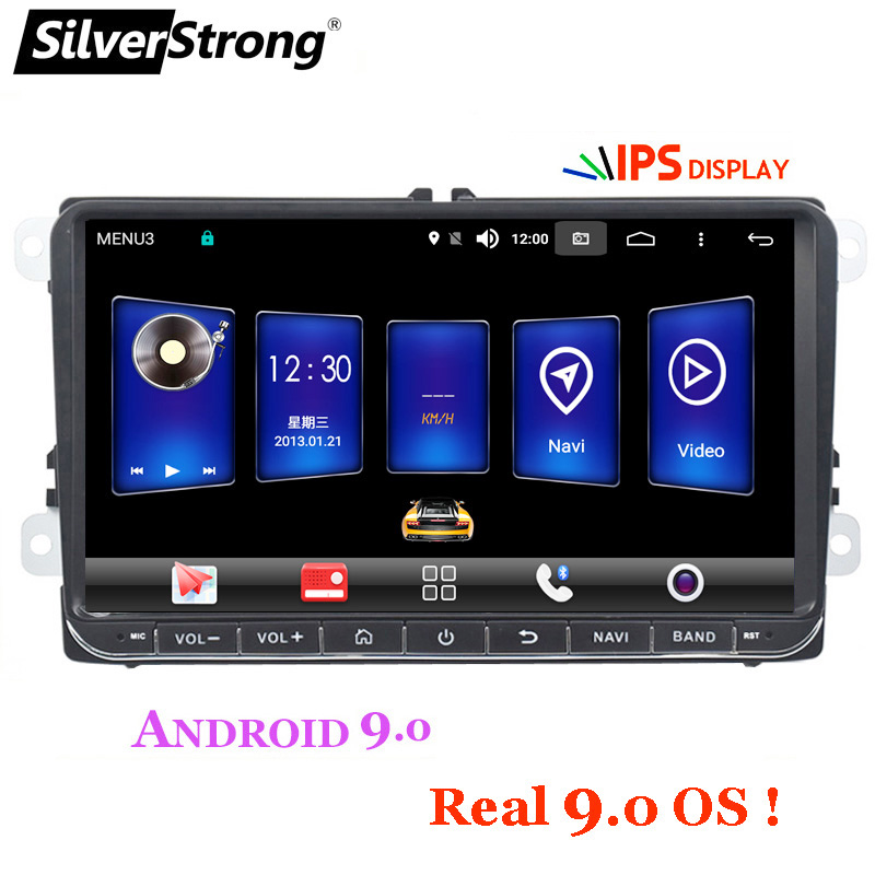 SilverStrong IPS Android9 0 4G Car GPS Navigation for Volkswagen Golf5 mk6 for Polo B7 B6