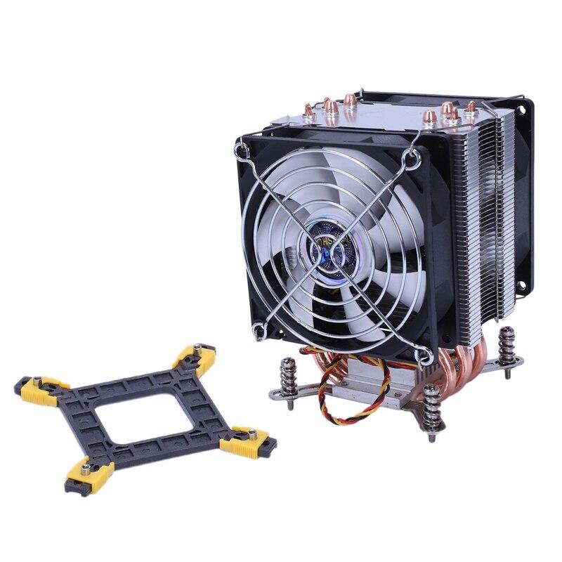 Lanshuo Pure Copper 4 Heat Pipe Thermal Processor Cooler For Lga /1150 / 1151/1155/1156/1366 Intel Multi-Platform Cpu Radiator