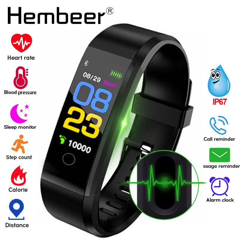 Smart Health Bracelet Blood Pressure Measurement Heart Rate Smart Band Fitness Tracker for iPhone Huawei pk fitbits mi band 3 m4-in Smart Wristbands from Consumer Electronics