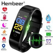 חכם בריאות צמיד לחץ דם מדידת קצב לב חכם להקת כושר Tracker עבור iPhone Huawei pk fitbits mi band 3 m4