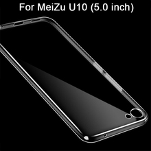 Meizu u10 case capa limpar transparente suave silicone tpu tampa do telefone case para meizu u10 capa case (5.0 polegada)
