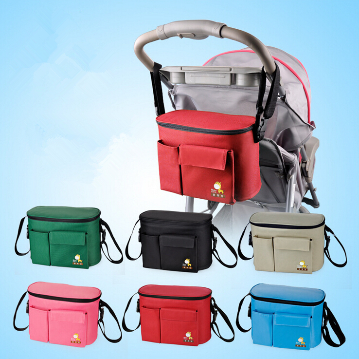 stroller accessory insulation bag baby diaper bags organizers cup basket pushchair travel. Black Bedroom Furniture Sets. Home Design Ideas