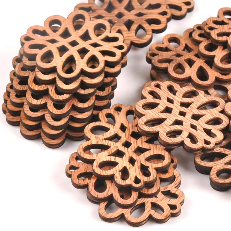 10pcs Clouds Pattern Vintage DIY Wood Crafts Scrapbooking Accessories For Wooden Home Decoration Sewing Ornament 45X49mm M1608x