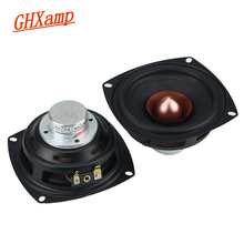GHXAMP 4 дюймовый квадратный Полнодиапазонный динамик, 4 Ом 25 Вт алюминиевый Железный борный Магнитный вокальный музыкальный инструмент, ядовитый 2 шт.