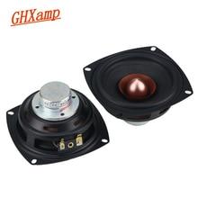 GHXAMP 4 pollice Quadrato Gamma Completa Unità di Altoparlante 4ohm 25 w Alluminio Ferro Boro Magnetico Vocal Strumento Musicale Velenoso 2 pz