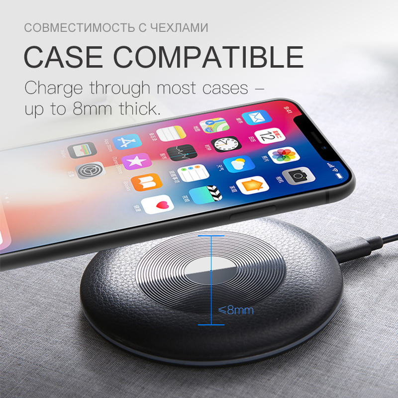 Suntaiho 10W/5W Fast Charging qi Wireless Charger For Xiaomi mi9  Huawei Mate 20 RS For Iphone X xs max  Samsung S9 S8 Note 8