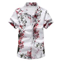 Blouse Mens Clothing Hawaiian Shirt Male Floral Short sleeve Flower Man Beach style Summer