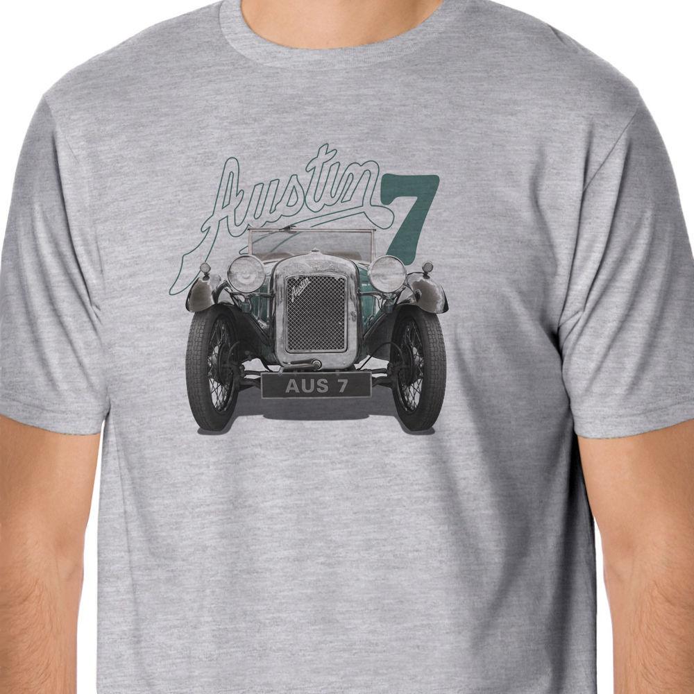 2018 Hot Sale 100% Cotton Vintage Austin Seven T-Shirt Summer Style Tee Shirt