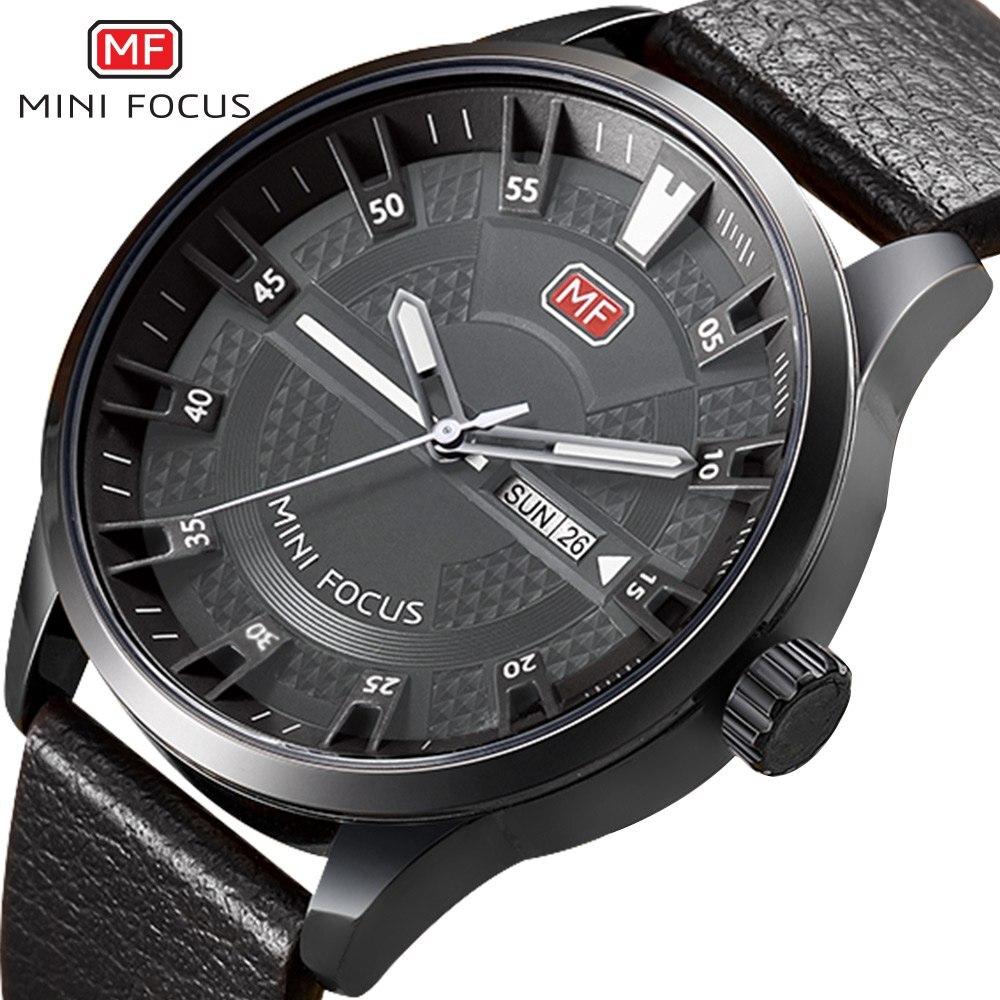 MINIFOCUS Beroemde 3D Dial Mannen Horloges 2018 Top Modemerk - Herenhorloges
