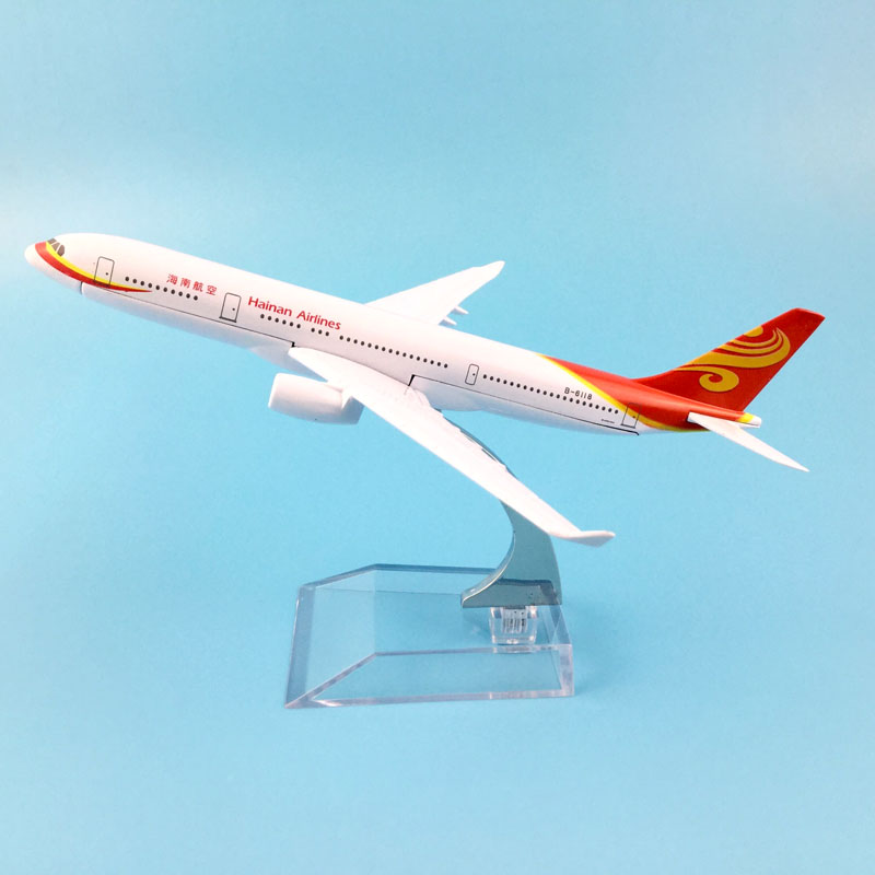 HAINAN AIRLINES  AIRLINES 16CM HAINAN AIRLINES  MODEL PLANE AIRCRAFT   TOYS FOR CHILDREN  AIRPLANE BIRTHDAY GIFT