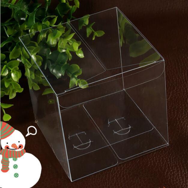 Acheter 24 pcs 8*8*8 cm Transparent étanche PVC Transparent boîtes Emballage petite boîte de rangement en plastique pour la nourriture /bijoux/Bonbons/Cadeau/cosmétique de Cadeau Sacs et Emballage Fournitures fiable fournisseurs