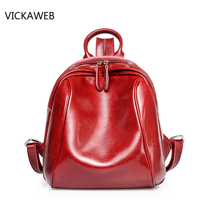 luxury brand women backpack genuine leather daypacks fashion real leather ladies shoulder bags cow leather backpacks