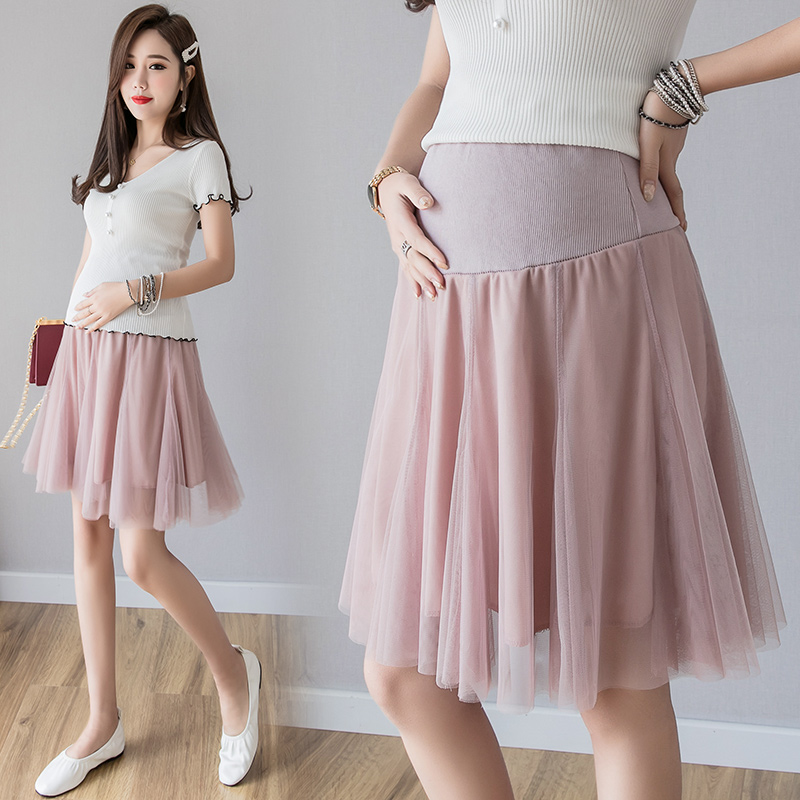 6619# Hot Guaze Maternity Skirts Elastic Waist Belly Mini Skirts Clothes For Pregnant Women Summer Sexy Fashion Pregnancy Skirts
