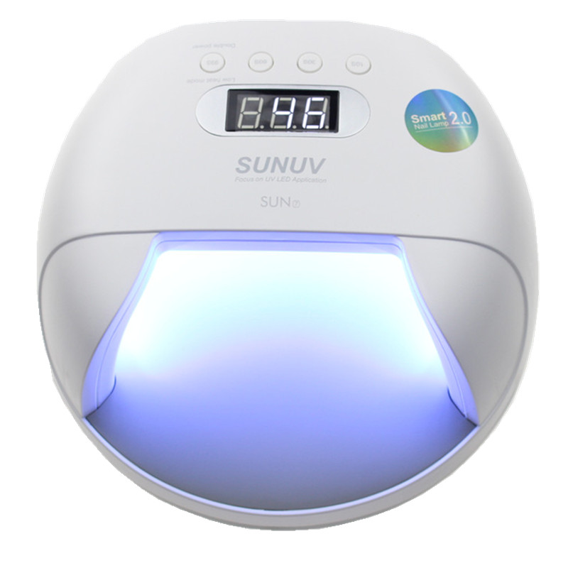 Original SUNUV SUN7 Nail Lamp 48W UV LED Double Light Source Nail Dryer Machine with Smart Timer Memory and Sensor Power Storage
