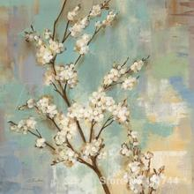 Wall art abstract oil paintings Kyoto Blossoms II Silvia Vassileva High quality Hand painted