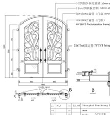 Wrought Iron Security Storm Doors Cheap Iron Doors