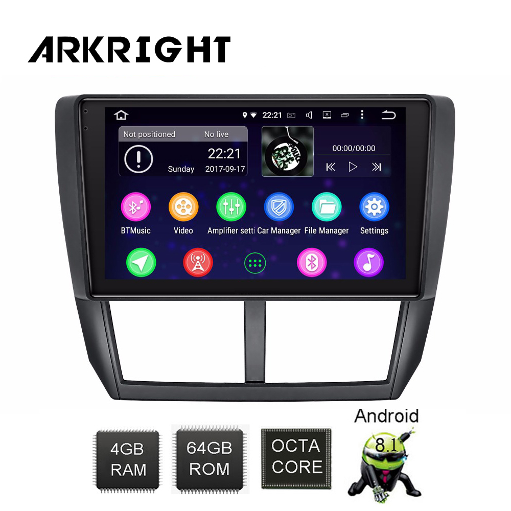 ARKRIGHT 9 39 39 2Din Android auto DVD player car stereo GPS system unit For Subaru Forester 2008 2012 mulitimedia player 4 64gb DSP in Car Multimedia Player from Automobiles amp Motorcycles