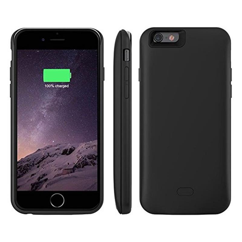 bilder für Für iphone 7/7 plus Fall, GagaKing Silikon Externes Ladegerät Fall Energienbank Pack Wiederaufladbare Tragbare 2500 ~ 7500 mah SCHWARZ