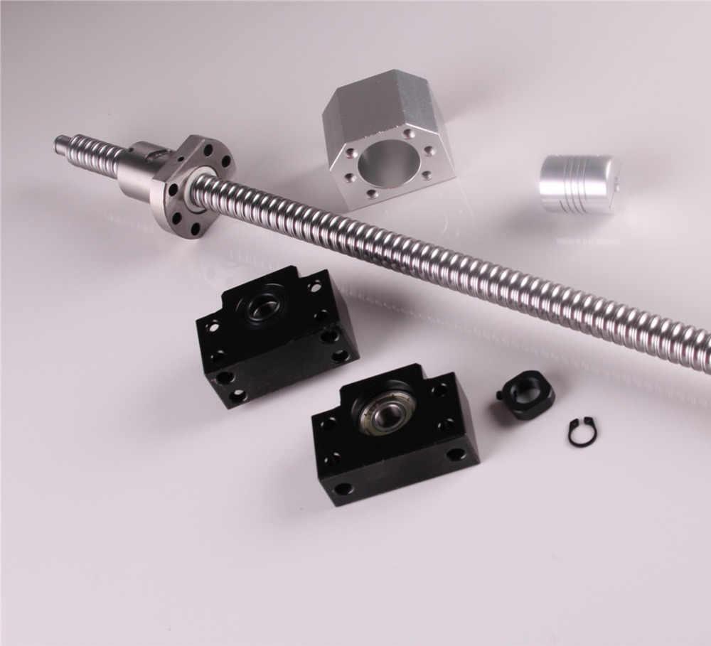 SFU1605 Set SFU1605 laminati a ricircolo di sfere C7 fine lavorazione + ballnut + custodia dado BK/BF12 fine supporto + accoppiatore RM1605 Vite A Sfere