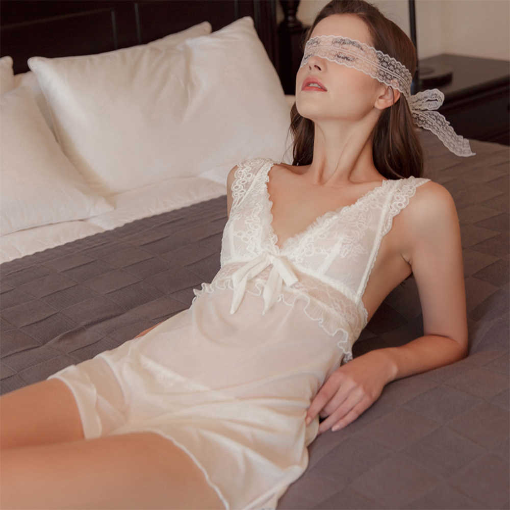 Munllure السيدات الأبيض حالمة تكدرت الدانتيل مثير باس النوم الملابس الداخلية النساء مثير الصدرية مجموعة الملابس الداخلية Bralette ملابس خاصة