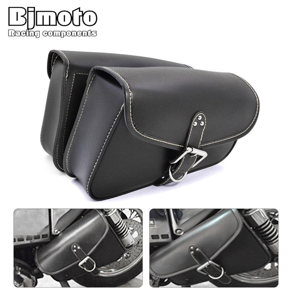 Bjmoto Moto motorcycle motorcross saddlebag Luggage Tool Side bag for Harley Davidson Sportster XL883 XL1200 motorbike Side Bag