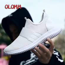 OLOMM 2019 New Fashion Classic Shoes Men Shoes Sneakers Flyweather Comfortable Breathabl Non-leather Casual Lightweight Shoes