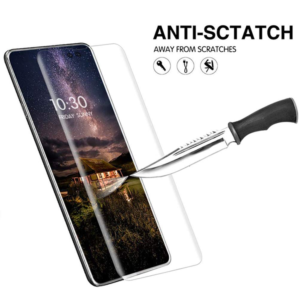 Image 3 - 100pcs/lot Full cover tempered glass For Samsung galaxy S10 PLUS S10E S9 S8 NOTE10 PRO screen protector fingerprint Unlock flim-in Phone Screen Protectors from Cellphones & Telecommunications