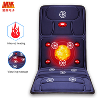 HOT Full Body Neck Lumbar Electric treatment Far Infrared Massage mat Relaxation Vibrating Mattress Heat Therapy Bed Health Care
