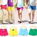 2016 Summer new 3-8 yearls old children shorts cotton material solid color casual kids pants for boys girls B125