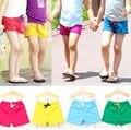 2016 Verão novo 3-8 yearls idade as crianças calções material de algodão cor sólida casuais calças infantis para meninos das meninas B125