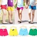 2016 Verano nueva 3-8 yearls viejos niños pantalones cortos de algodón de color sólido de material para niños pantalones casuales para niños niñas B125