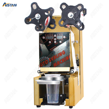 WY980 electric full automatic cup bottle sealing machine commercial use desktop for Milk tea shop coffee bar 1