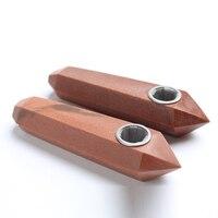 Hotsale Fashion 8-10 cm Natuurlijke Kristal Rood Goud Steen Gratis Pijpen Groothandel