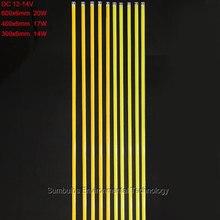 10 шт./лот Sumbulbs 300x6 мм 400 х 6 мм 600 х 6 мм длиной COB светодиодные ленты светодиодный светильник бар 20 Вт 17 Вт 14 DC12-14V гибкие полосы света 60 см, 40 см, 30 см COB светодиодные лампы