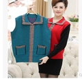 Hot!!!Free shipping !!!2015 and older female cashmere shawl wool vest fertilizer increased mother cashmere waistcoats