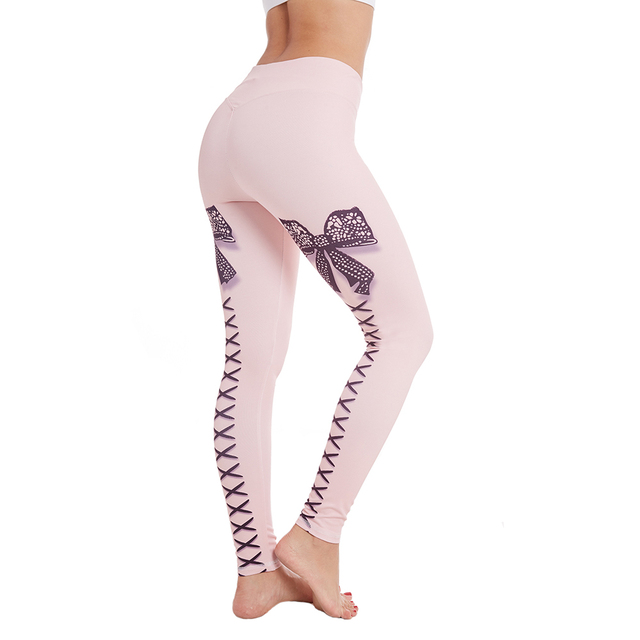 Sexy Bowtie Printed Stretch Bow Strap Butterfly Leggings