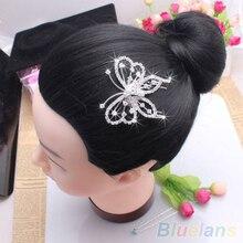 Hot Women's Elegant Butterfly Crystal Rhinestone Hair Comb Clip Wedding Bridal Jewelry hair accessories 22QR