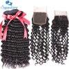 Sapphire Hair Peruvian Deep Wave Bundles 4 Bundles With Free Part Closure For Hair Salon High