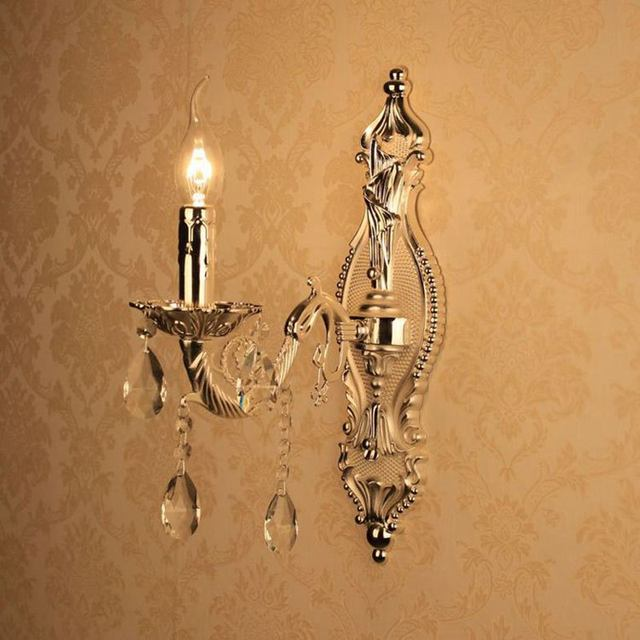 Online shop european torch carved alloy clear crystal corridor european torch carved alloy clear crystal corridor wall lights bedroom bedsides wall sconces candle style living room wall light aloadofball Choice Image