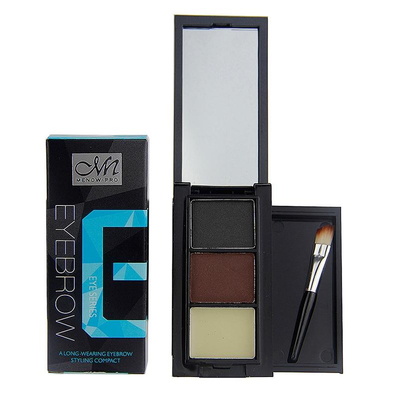 Pro 3 Farve Øjenbryn Pulversæt Langvarig Smink Øjenbryn - Makeup